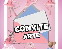 Convite (Arte) - Angelina Bailarina
