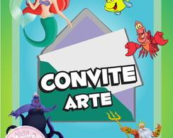 Convite (Arte) - Pequena Sereia
