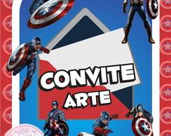 Convite (Arte) - Capit�o Am�rica