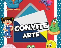 Convite (Arte) - Galinha Pintadinha