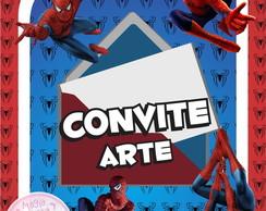 Convite (Arte) - Homem Aranha