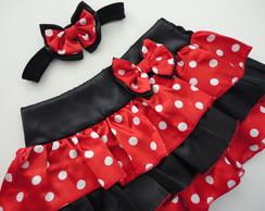 Saia + faixa Minnie Vermelha