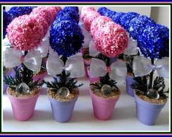 Topiaria Mini P/Ch� de Beb� Rosa/Violeta