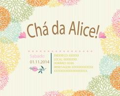 Arte para Convite de Ch� de Beb� Florido