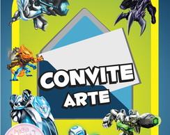 Convite (Arte) - Max Steel