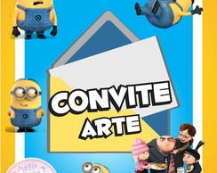 Convite (Arte) - Meu Malvado Favorito