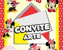 Convite (Arte) - Minnie Vermelhinha
