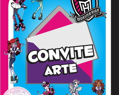 Convite (Arte) - Monster High