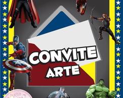 Convite (Arte) - Os Vingadores