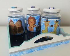 Kit Higiene Bichinhos azul - menino