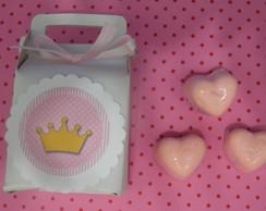 caixinha 3 sabonetes cora��o princesa