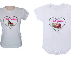 Baby look e body M�e e Filha