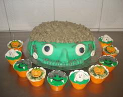 bolo e cupcake halloween