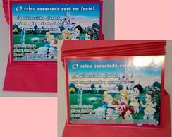 Convite Princesas Baby 10x7cm