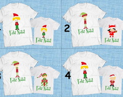 Kit 2 Pe�as Pai e filha(o) Natal