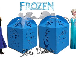 Caixinha com Recorte Frozen