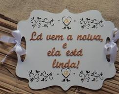 PLACA CASAMENTO DE M�O FRENTE E VERSO