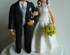 Topo de bolo - Casamento Erlon e Stela