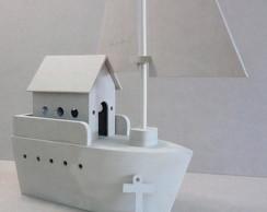 Barco decora��o festa marinheiro 30 cm