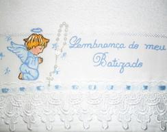 Lembrancinha - Toalha batizado c/ tercin