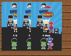 R�tulo Para Bisnaga - Super Herois