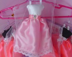 Mini Vestido de Cetim 15 anos