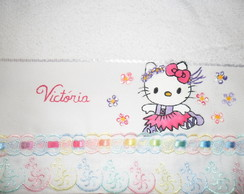 Toalha de m�o infantil para hello-kitty