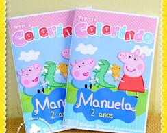 Revista e Estojo personalizado Peppa Pig