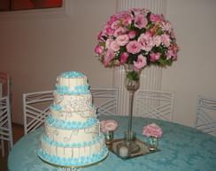 bolo decorado p/ casamento.