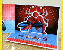 Convite Pop Up 3D Homem Aranha