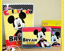 Revista, massinha e Estojo Mickey Mouse