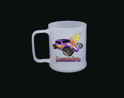 Caneca Pl�stica Hot Wheels