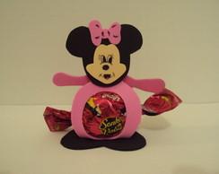 Porta Bombom Minie Rosa/Mickey Azul