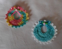 Lembrancinha Mini Babador de Croch�