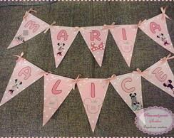 Varalzinho de letras Minnie rosa