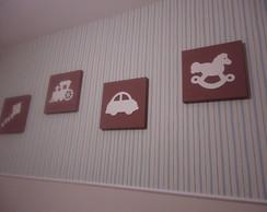 Quarteto de Quadros Decorativos