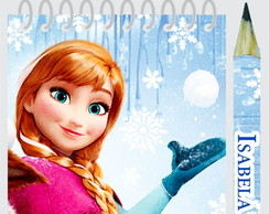 Bloquinho Anota��o Mini L�pis Frozen