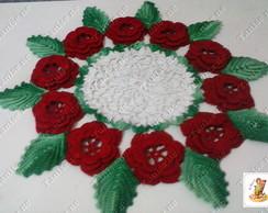 Centro de mesa flores e folhas