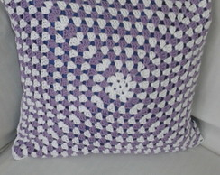 Capa de Almofada em croche