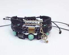 Kit de pulseiras masculinas