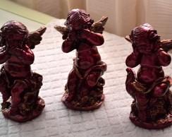 Trio de Anjos - pronta entrega