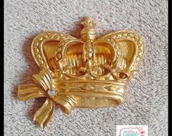 Aplique Coroa Princesa Dourada M