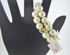 Kit de pulseiras Perolas de Vidro Banhad