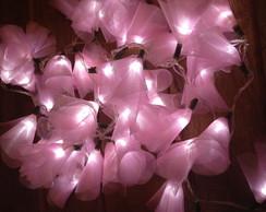 Luzinhas decorativas cor de rosa