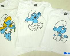 Camiseta Os Smurfs - Infantil