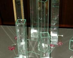 Solit�rios de vidro e espelho