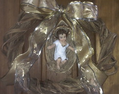 Guirlanda com menino Jesus