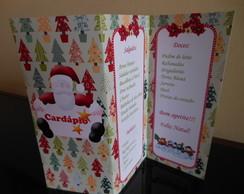 Card�pio/Menu Natal - modelo sanfona