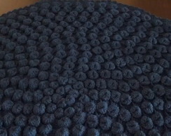 Tapete Bolinha Azul 80 cm