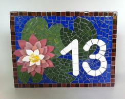 Placa N�mero Residencial mosaico L�tus